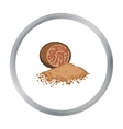 Nutmeg icon in cartoon style isolated on white vector image vector image