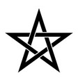 pentagram sign - five-pointed star magical symbol vector image vector image