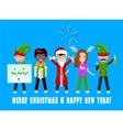 People Celebrating Christmas vector image vector image