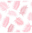pink camouflage palm tree leaves seamless pattern vector image vector image