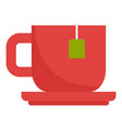 red hot tea cup icon flat style vector image vector image