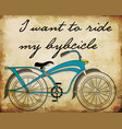 retro bicycle postersbike printing vector image vector image