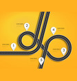 road trip and journey route winding road on a vector image vector image