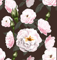 rose seamless pattern6 vector image vector image