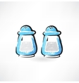 salt and pepper grunge icon vector image vector image