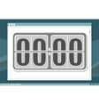 Schedule clock design with frame on screen vector image