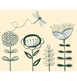 Seamless vintage flower pattern line art vector | Price: 1 Credit (USD $1)
