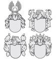 set aristocratic emblems no9 vector image vector image
