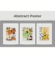 set of abstract posters with prehistoric ornament vector image