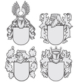 set of aristocratic emblems No9 vector image vector image