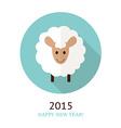 sheep symbol of 2015 vector image
