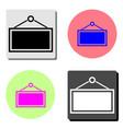 signboard on door flat icon vector image vector image