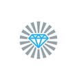 sun diamond logo icon design vector image