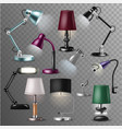 table lamp desklamp and realistic reading vector image vector image
