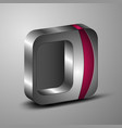 the 3d square for you design vector image vector image