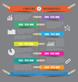 timeline infographic report template hanging on a vector image