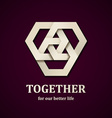 together paper icon design template vector image vector image