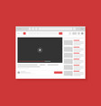 video hosting service page flat vector image