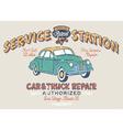 Vintage gasoline service station vector image vector image