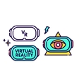 Virtual reality glasses headset gadget logo vector image vector image