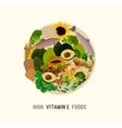 Vitamin E in Food vector image