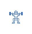 weightlifter line icon concept weightlifter flat vector image