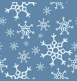 winter snowflakes seamless pattern vector image vector image
