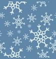 Winter snowflakes seamless pattern