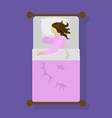 woman sleeping in bed vector image