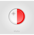 Malta flag button vector image