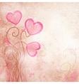 valentines heart flower vector image