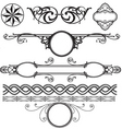 decoration elements pack vector image