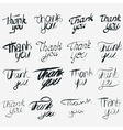 Thank you calligraphic inscription set vector image