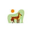 a deer in a forest vector image