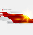 abstract technology geometric red color shiny vector image vector image