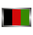 afghanistan flag on white background vector image vector image