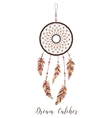 American Indians amulet Dream catcher with vector image vector image