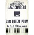 Anniversary Jazz concert poster vector image vector image