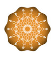baked cookies with snowflake sweet classic vector image vector image