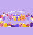 birthday present background vector image vector image