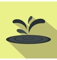 black oil spill flat icon vector image