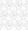 Blue 3d shapes on textured gray big and small dot vector image vector image