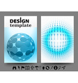 brochure design templates with geometric vector image vector image