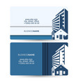 business card sale of houses and building vector image vector image