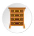chest of drawers icon circle vector image vector image