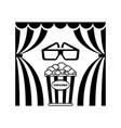 cinema theatre popcorn vector image vector image