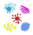 colorful splash - stain - blot set vector image vector image
