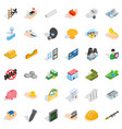 corporation icons set isometric style vector image vector image
