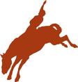 Cowboy rider silhouettes vector image vector image