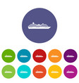 cruise ship set icons vector image